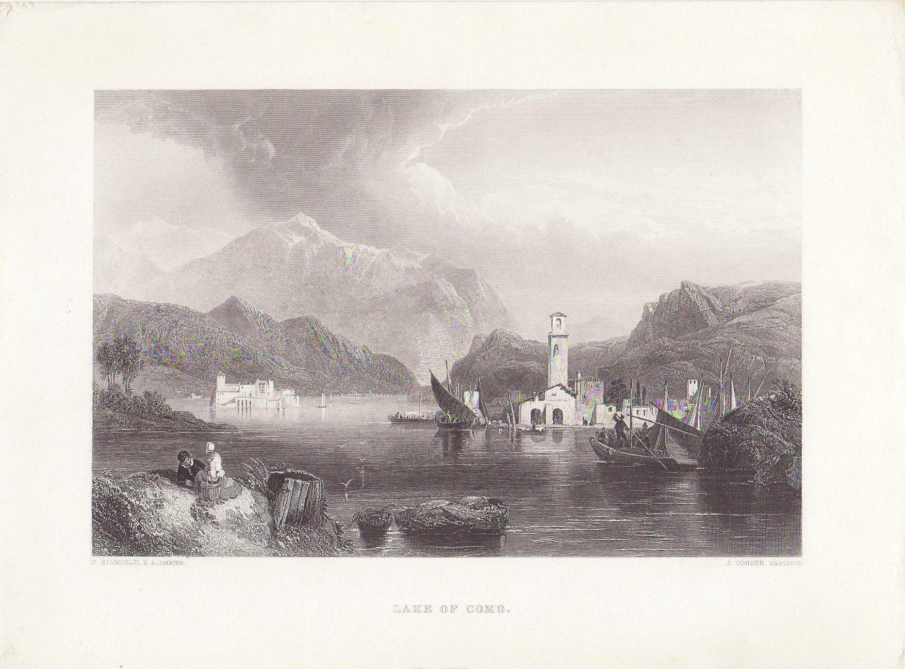 1875 Italien Lombardei Comersee antike Paris drucken