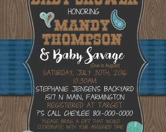 Western Baby Shower Invitation