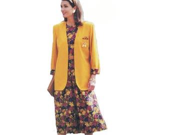Butterick 6328 Women Loose Jacket, Pullover Shell Top, Skirt Size 6-14 Bust 30-36in/78-92cm Vintage Easy Sewing Pattern 1992 UNCUT