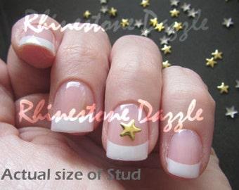 5mm gold star studs, nail studs, metallic nail studs, 3D nail art, diy nail art, gold star studs, metal studs, gold nail art