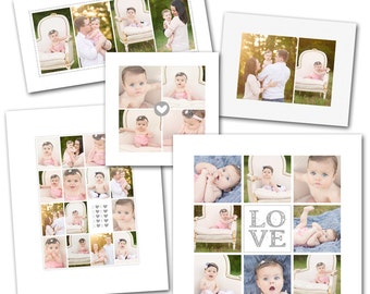 Sweetly Subtle Collage Template Set for Photographers - Photoshop digital download