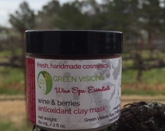 Wine and Berries Antioxidant Facial Clay Mask