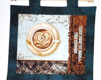 Fabric Wall Hanging of Take Time To Smell The Coffee