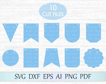 Bunting banner flag svg, Bunting banners svg, Banners svg file, Bunting banner clipart, Banners cricut cut, Banners vector, Pennant svg file