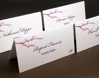 Cherry Blossoms Placecards - Set of 50