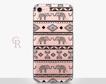 Elephant iPhone 7 Clear Case For iPhone 8 iPhone 8 Plus - iPhone X - iPhone 7 Plus - iPhone 6 - iPhone 6S - iPhone SE - Samsung S8  iPhone 5