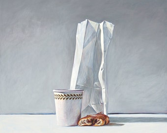 Holly Golightly's breakfast. Limited edition giclée print.