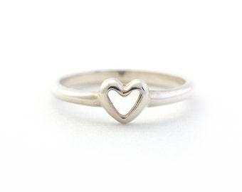 Dainty Heart Ring in Sterling Silver