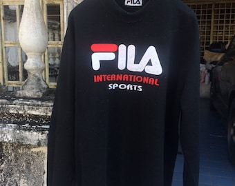 Vintage FILA sweatshirt Big Logo Large Size Rap Tees Hip Hop Swag
