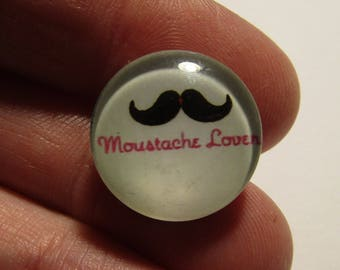 snap mustache theme with 18mm diameter cabochon various models