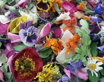 Wedding Petal Confetti, Dry Flower Confetti, Wedding Decorations, Dry Flowers,  Table Decor, Flower Girl, Reception Decor, 72 Boxes or Bags