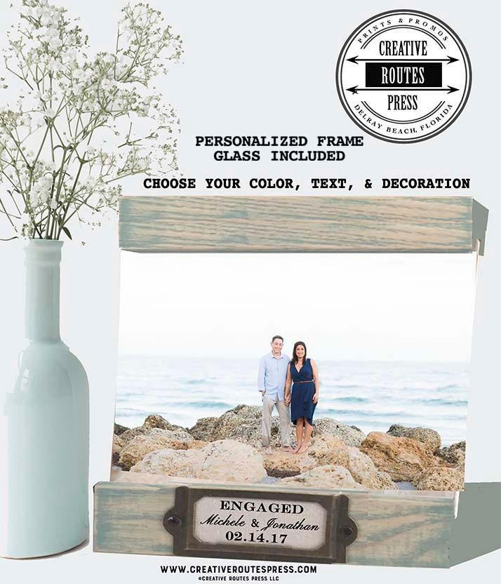 Engagement Gift Frame personalized gift for engaged couple