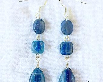 Blue Kyanite Drop Earrings