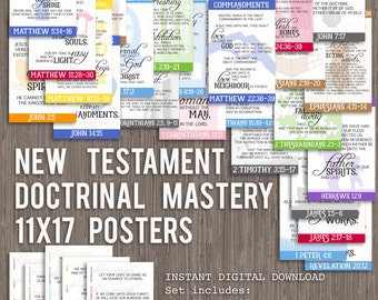 11x17 New Testament Doctrinal Mastery Posters for LDS Seminary-DIGITAL DOWNLOAD