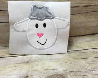 Sheep Applique, Sheep Head Applique, Sheep Embroidery Applique, Sheep Embroidery Design