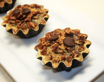 "German Chocolate Pecan Pie, Mini Pie - 6 pcs. of 3"" mini pies"