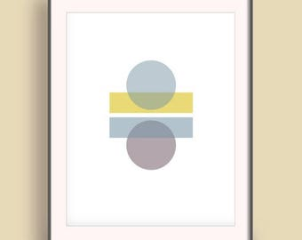 Abstract art 2017, Art poster for him, Circle art poster, Color minimal poster, Contemporary affiche,  Design geometry, Entry wall decor