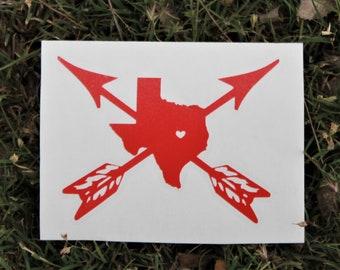 Texan Arrow through Heart