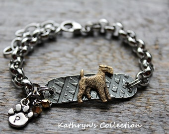 Airedale Terrier Bracelet, Lakeland Terrier, Welsh Terrier, Airedale Gift, Airedale Jewelry