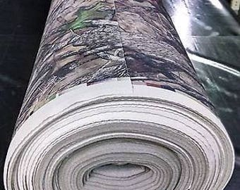 """HTC True Timber Camouflage Auto Headliner Fabric 3/16"""" Foam Back By The Yard"""
