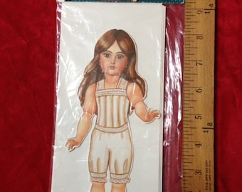 1907 Jumeau Paper Doll set with gorgeous dresses
