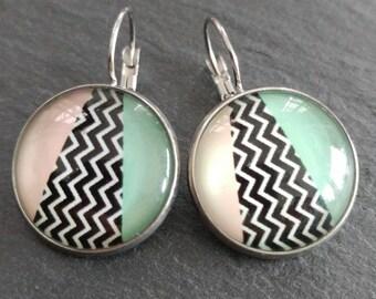Earrings 20mm - summer pattern