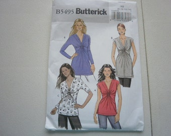 Pattern Ladies Tops and Shirts Sz 8 to 14 Butterick 5495