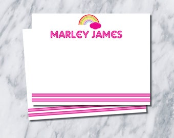 Rainbow Stationery/ Thank You Cards/ girl thank you cards