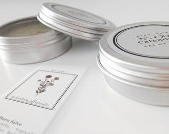 Burn Salve - Healing Salve - Herbal Salve - Calendula Salve - Organic Salve - Natural - First Aid - Ointment - Healing Balm -  Burn Cream