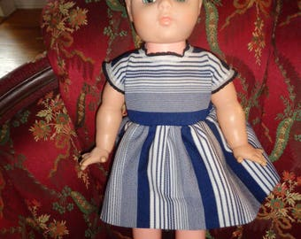 Vinyl head Plastic Body Open Close eyes Doll Dressed with shoes