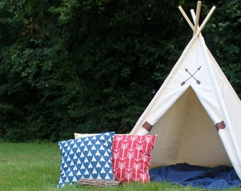 Friendship Teepee, Canvas Teepee in Two Sizes, Can Include Window, Play Tent, Kids Teepee Tent, Playhouse, Custom Order