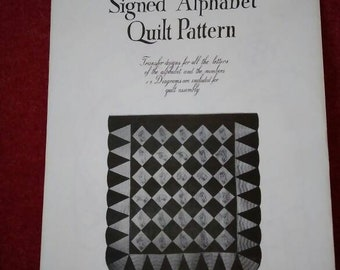 Quilting pattern applique American Sign Language