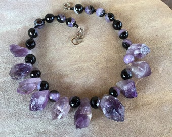 Amethyst Geode Necklace- From the tips of an Amethyst Geode