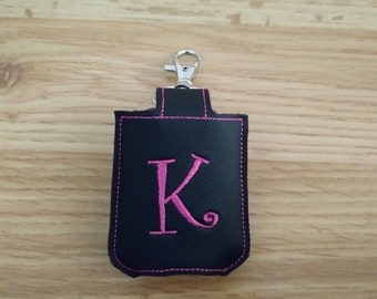 Personalized Embroidered Sanitizer Holder Key chain Fob