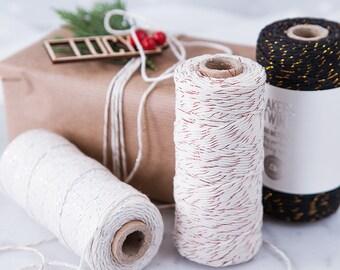 Metallic Cotton Bakers Twine - Metallic Twine - Cotton Twine - Wrapping Twine - Metallic Wrapping - Gold Twine - Copper Twine - Silver Twine