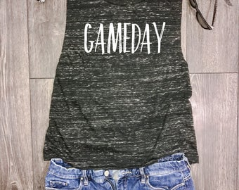 baseball mom tank, baseball tank tops, baseball tank, gameday muscle tank, baseball mom, baseball tank top, ballin, homerun, game day