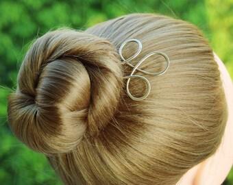 Brass Hair Fork, Metal Hair Pin,Celtic Hair Stick Trinity Hair Pick Hair Slide, Bun Holder Hair Jewelry, Women Hair Accessories Gift For Her
