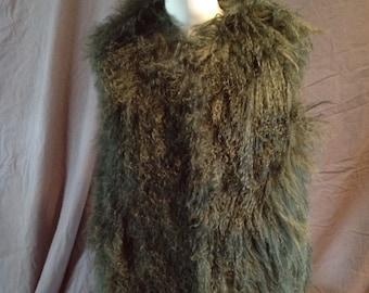 Vintage Sheepskin Hippie Vest 70's Retro Boho