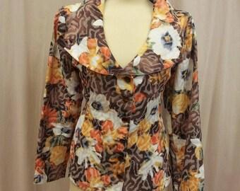 Elegant cotton maronne floral