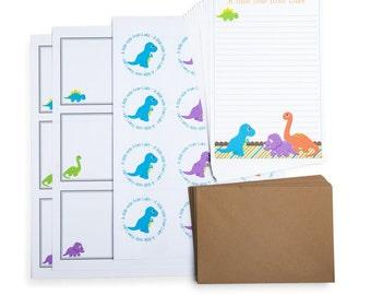 Personalised Dinosaur Writing Set