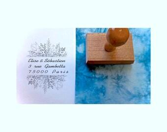 A10, stamp address stamp custom stamp personalized address stamp address stamp, custom wedding stationery
