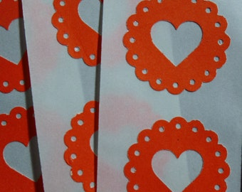 Scalloped Heart Love Stickers