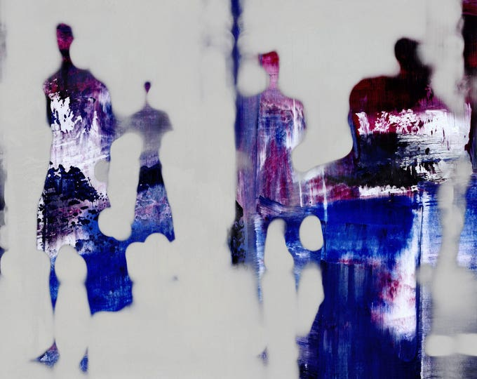 SAIGON BLUR XLIII - Mixed Media Art by Sven Pfrommer - Artwork is ready to hang