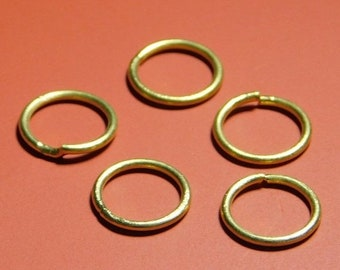 60% off 925 Silver gold plated jump rings - 10PC-SET - 9mm-STK-47-Slvr-57