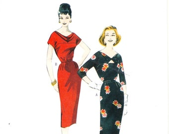 50s Re-Issue Butterick B5707 Misses Dress & Belt Sewing Pattern UNCUT