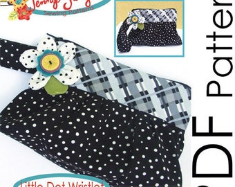 PDF Sewing Pattern - Little Dot Wristlet