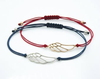 Love Wing Bracelet, Adjustable Macramé Bracelet, Wings Of Eros, Cupid Wings, God Of Love, Greek Mythology.