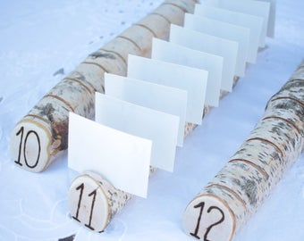 Birch Multi Place Card Escort Card Business Card Holders  for Weddings, Business, Crafter, Artists with Wood Burned Numbers