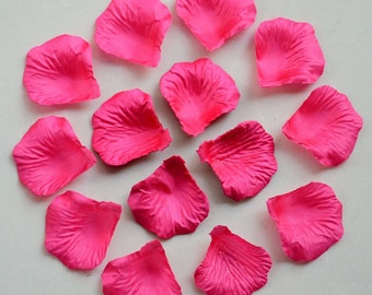 Fuchsia Rose Petals Bulk Silk Rose Petals Hot Pink Artificial Flower Petals For Wedding Party Decor Confetti 1000 Petals HB-LX-003