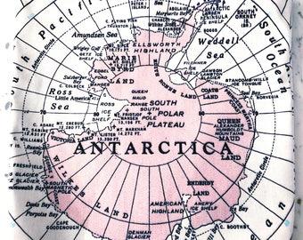 Antarctica Map Tote - Antarctica Map Bag - Antarctica Tote Bag - Antarctica Bag - Antarctica Tote - Wanderlust Tote - Gift for Traveler